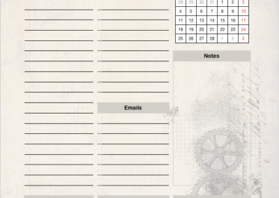 Sample Planner Page